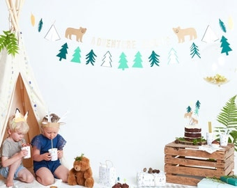 SALE! Let's Explore Garland - Meri Meri Banner | Camping | Little Explorer