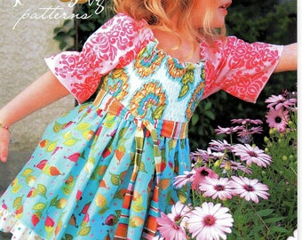 The Mia Top No. 14 Pink Fig Patterns Sizes 12 Months to 10 Years by Chelsea Andersen Uncut
