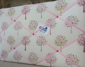 Handmade Tree Fabric Padded Noticeboard Memory Board Perfect gift - Bedroom, Office, Kitchen