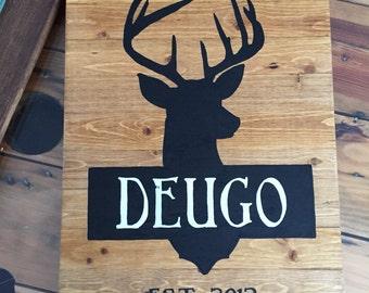 Family deer sign