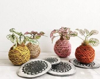 Kokedama Ceramic Holder - Plant Tray