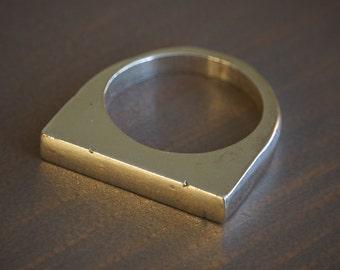 Handmade Silver Bar Ring