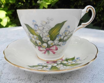 Vintage Regency Tea cup Lily of the Valley Bone China Made in England