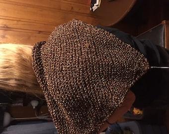 hand knited triangular shawl