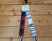 NEW: Infant Pacifier Clip- Lumberjack (set of 2)