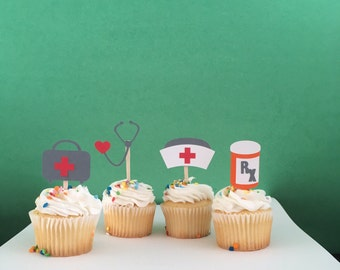 Nurse/Doctor Set Cupcake Toppers