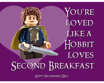 Lego Lord Of The Rings Valentine Cards For Elementary School Valentineu0027s  Day Parties   Digital File