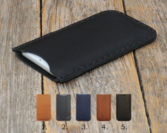 Nokia 6 5 3 ENGRAVE YOUR Name Case Pouch. Handmade Cover Genuine Real Leather Shell Sleeve Rough Vintage Style