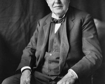 Thomas Alva Edison, Thomas Edison, Photograph, 1922, Inventor