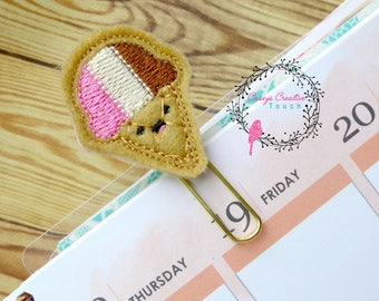 Ice Cream Kutie Cone Planner Clip, Planner Clip,Plan,Planner, Paper Clip,Planner Accessory,Planner Clip, bookmark, gifts under 5, page clip