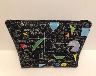 Math! Large Zipper Clutch