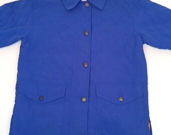 80's vibrant blue coat