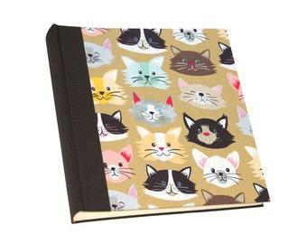 photo album with fabric cats