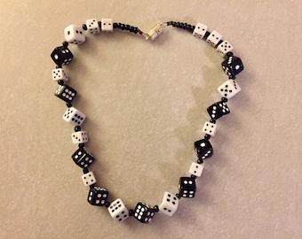 Vintage Las Vegas Dice Necklace