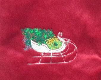 Christmas tree in Sleigh Stocking