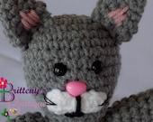 Gray Cat / Gray Cat Stuffed Animal / Crochet Gray Kitty Cat / Crochet Plush Gray Kitty Cat Toy / Gray Cat Snuggly Pal