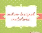 20 Custom Ninja Invitations with Envelopes