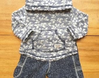 Organic Baby Clothes,2 pieces Set, Sweatshirt+ Pants,Indigo Blue