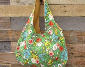 Handmade Reversible boho bag- Market Tote Bag
