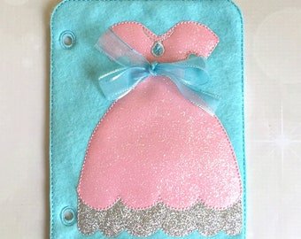 Quiet Book Page - Busy Book - Pre School Learning - Tie a Bow Page- Toddler Learning - Kids Activity Pages - Princess Dress - Learning Toys
