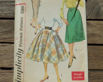 Vintage Simplicity Set of Skirts Printed Patterns 2654