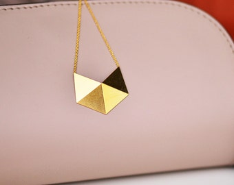 Gold Origami Necklace