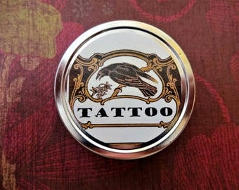 Tattoo Salve 2 oz. Herbal Salve, Tattoo Balm, Arnica Salve, Comfrey Salve, Arnica Balm, Comfrey Balm, Natural Salve, Wound Salve  SALE