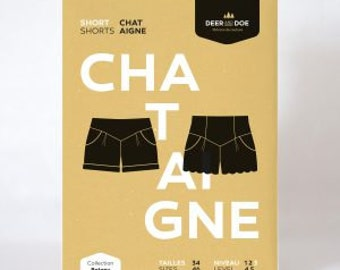 Chataigne Shorts- Deer and Doe Patterns