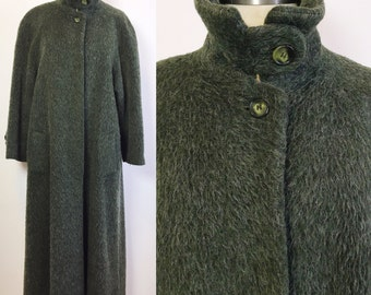 Vintage Saks Fifth Avenue Coat / Green Winter Coat / Heavy Wool Coat / Green Wool Coat / Vintage Saks Coat / Long Winter Coat / Green Coat