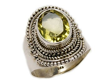 Forever Sunshine Citrine Ring Jewelry & .925 Sterling Silver Ring Size 6.75 ; R429 The Siver Plaza