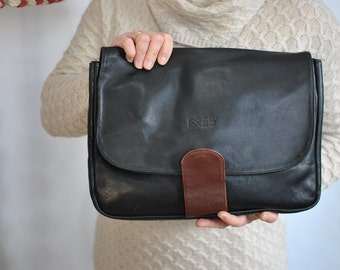 Vintage BREE leather clutch , women's leather bag............(542)