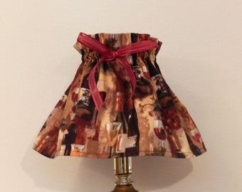 Small lamp shade - Mini Lamp Shade - Wine Gift - Wine Bottle Lamp Shade - Liquor Bottle Lamp Shade - Fabric Lamp Shade - Wine Decor