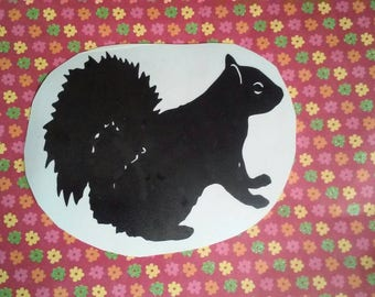 Squirl Window Decal/Squirrel Sticker /Squirrel decal/Yeti Cup Decal