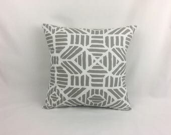 Couch Pillow - Gray Pillow Covers - Throw Couch Pillow - Home Decor Pillows - Gray and White Pillows 0044