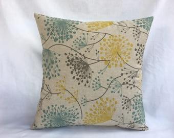 Yellow Gray Pillow Etsy