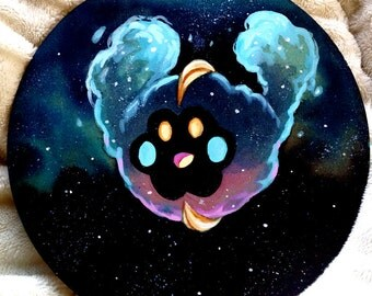 Nebby - Cosmog, Pokemon, Cute, Stars, Starry, Acrylic, Nebula, Cosmos