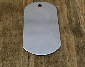 Dog tag, aluminum, for hand stamping