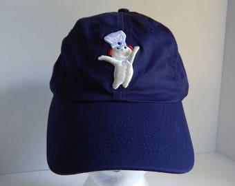Pillsbury Dough Boy Navy Blue Adult Baseball Cap Hat Stock Up Baking Cooking Holidays