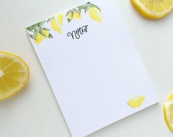 Lemon Note Pad