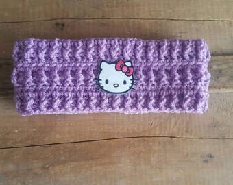 Hello Kitty Ear Warmer for Child and Adolescent Crochet Ear Warmer Crochet Headband Hello Kitty Headband Hello Kitty Patch Hello Kitty Gift