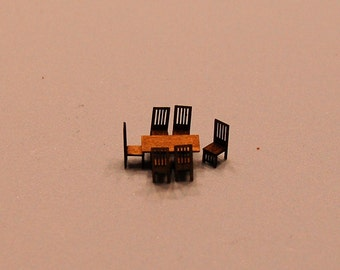 1/144th inch scale miniature-Arts & Crafts Era Dining Room Set
