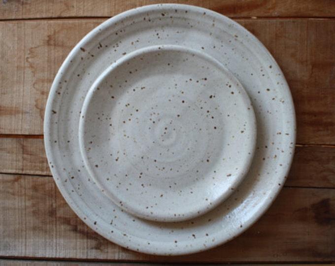 Kary Norton & Joel Wenger - Wedding Registy Dinner Plate + Salad Plate Set - KJ Pottery