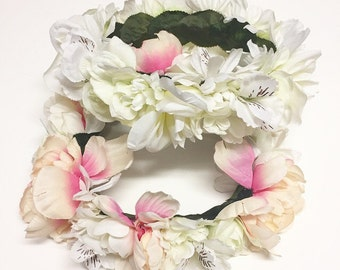 Child Flower Crown with Leaves
