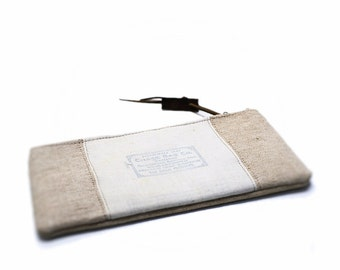 Canvas pencil case, pencil pouch, cosmetic bag, recycled cosmetic pouch