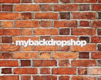 2ft x 2ft Brown Brick Photography Backdrop - Fake Brick Wall Background for Product Pictures -  Vinyl or Poly - Item 1119