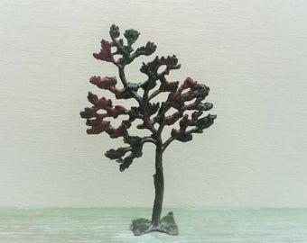 Vintage Britain's Miniature Lead Small Tree 640 , Dark Pink Blossom