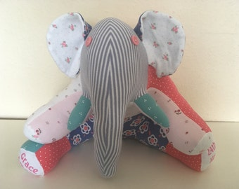 Keepsake Animal - Elephant from your Baby Clothes