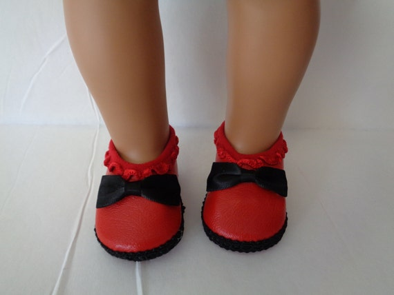 and black doll shoes for 18 dolls shown on my