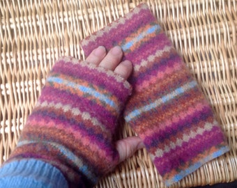 Fingerless mitts. Pure wool.