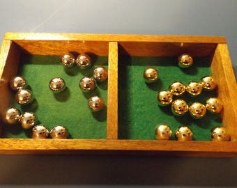 """lot of 12 gold tone and lot of 12 silver tone metal balls 5/8"""" = 15.9 mm  the diameter. Options. Project"""